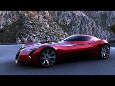 bugatti | 2025 Bugatti Aerolithe Concept Design by Douglas Hogg - Red Side Angle ...