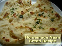 Homemade Naan Bread Recipe- you only need 4 ingredients and its ready in a few minutes. Homemade Naan Bread, Recipes With Naan Bread, Good Food, Yummy Food, Delicious Meals, Naan Recipe, Bread Rolls, Food Festival, How To Make Bread