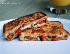Cooking Creation: Grilled Cheese with Bacon, Tomato & Scallions