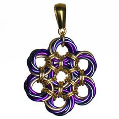 Peony Flower Pendant Chainmaille Kit and Tutorial | DIY Jewelry | Blue Buddha Boutique