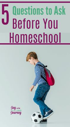 5 Questions to Ask Before You Homeschool - Joy in the Journey How To Start Homeschooling, Homeschool Curriculum, Homeschooling Resources, School Id, Public School, Questions To Ask, This Or That Questions, Kids Reading, Work From Home Moms