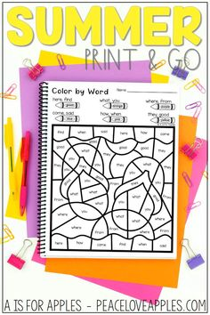 25 printables with a summer theme - perfect for no prep, independent practice. Includes reading, writing, phonics, and math skills.