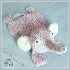 Schmusetuch Elefant Ottilia, Häkelanleitung, für Babys und Kleinkinder, schnell und einfach häkeln