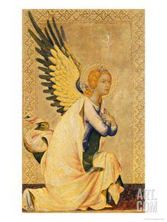 Angel Gabriel Giclee Print by Simone Martini at Art.com