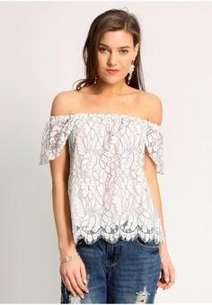 Lost In Thought Lace Detail Top | Modern Vintage Tops | Modern Vintage Clothing | Ruche