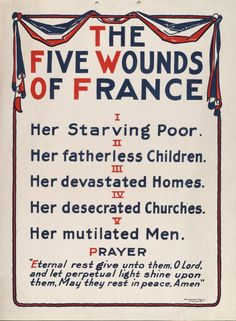 The Five Wounds of France ~ World War I