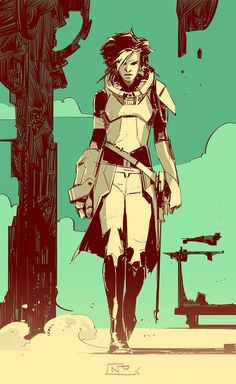 "ArtStation - Various ""graphic"" characters., Nicolas Petrimaux"