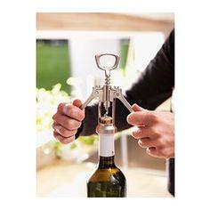 IKEA - IDEALISK, Corkscrew, Levers make uncorking bottles easier.Bottle opener in the handle.