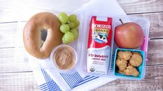 Make mornings less hectic by packing these 5 yummy school lunches the night before Healthy School Lunches, School Snacks, Healthy Snacks For Kids, Work Lunches, Healthy Breakfasts, Eating Healthy, Clean Eating, Taco Bar, Dog Recipes