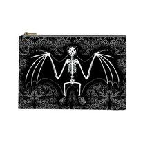 Skeleton Bat cosmetic bag by Lttle Shop Of Horrors. GOTHIC, DEAD, UNDEAD, SKULL, SKELETON, EMO
