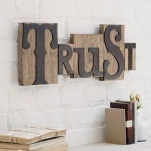 Trust - Letterpress Block Set