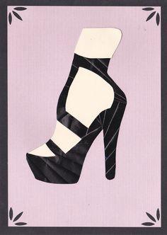 Iris folded high heeled shoe