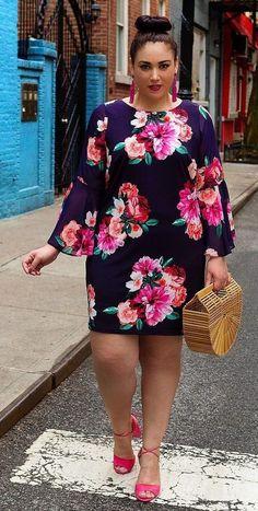 Stylish plus size outfits ideas for summer 2018 3 vestidos en 2018 muoti, v Plus Size Summer Fashion, Plus Size Fashion For Women, Plus Size Women, Size 14 Fashion, Fashion Spring, Vestidos Plus Size, Plus Size Dresses, Plus Size Outfits, African Fashion Dresses