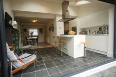 Rear House Extension End of Terrace House - Permitted Development Rear Extension Kitchen Extension Open Plan, 1930s House Extension, Rear Extension, Open Plan Kitchen, New Kitchen, Kitchen Dining, Extension Ideas, Kitchen Ideas, Island Kitchen