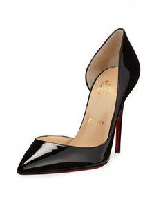 Christian Louboutin Iriza Heels in Patent Black