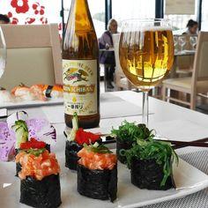 Sushi for two #sushiorchidea #sushi #sushitime #salmon #gunkan #beer #sushigram #rimini #allyoucaneat #food #love #yummy #gnammy by sushiorchidea