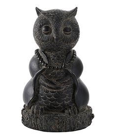 This Meditating Owl Figurine by Pacific Trading is perfect! #zulilyfinds