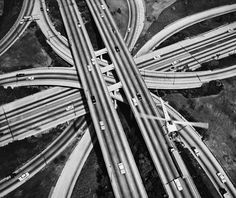 September 22, 1953, LA's first 4-level interchange became fully operational. More photos via LA as Subject.