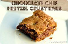 Chocolate Chip Pretzel Crust Bars