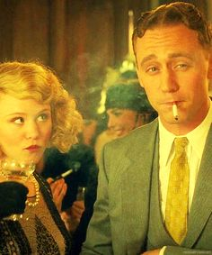 Alison Pill & Tom Hiddleston as Zelda and F. Scott Fitzgerald from Midnight in Paris Zelda Fitzgerald, Scott Fitzgerald, Woody Allen, Great Films, Good Movies, Movies Showing, Movies And Tv Shows, Rock And Roll, Alison Pill