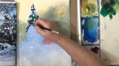 Snow in Watercolor, Quick, Easy, Loose (+playlist)