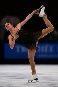Adelina Sotnikova of Russia Ladies Free Skating Eric Bompard 2013/2014, Black Figure Skating / Ice Skating dress inspiration for Sk8 Gr8 Designs.