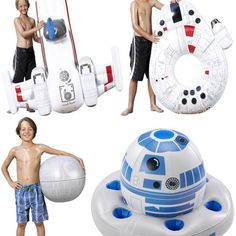If you think about it, Star Wars pool toys make perfect sense. A beach ball that looks like the Death Star? Of course. A Millenium Falcon innertube?..