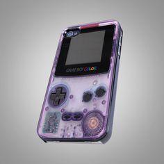 Nitendo purple game boy Design - iPhone 4 iPhone 4S iPhone 5 Case ( Black / White ). $15.99, via Etsy.