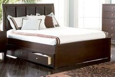 Special Offers - Loretta Eastern King Bed In Deep Brown Finish by Coaster Furniture - In stock & Free Shipping. You can save more money! Check It (July 04 2016 at 07:40PM) >> http://adjustablebedusa.net/loretta-eastern-king-bed-in-deep-brown-finish-by-coaster-furniture/