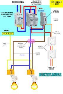 Schema electrique chauffe eaujpg 1058x794 projetos a for Quelle couleur avec le bleu 7 schema electrique le raccordement de 3 interrupteurs va