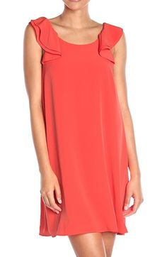 Awesome Awesome CeCe by Cynthia Steffe NEW Orange Women Size Small S Ruffled Shift Dress $98 131 2018