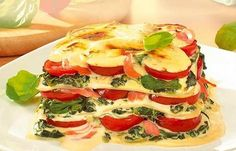 Spinat-Lachs-Lasagne/Spinach and salmon lasagne
