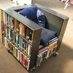 chair/book shelf