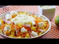 Receta de Ensalada con Jamón, Piña y Queso de cabra | LHCY