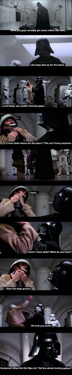 Obi-Wan prepared the ground for this kind of jokes all across the galaxy. Or should I say... he prepared the HIGH GROUND