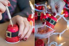 15 Dollar Store Christmas DIY Projects Anyone Can Do - The Krazy Coupon Lady Informations About 15 D Dollar Tree Christmas, Cheap Christmas, Diy Christmas Gifts, Christmas Projects, Christmas Decorations, Christmas Ideas, Holiday Crafts, Christmas Foods, Christmas Tablescapes