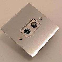 Victorian Satellite & TV Socket Satin Chrome