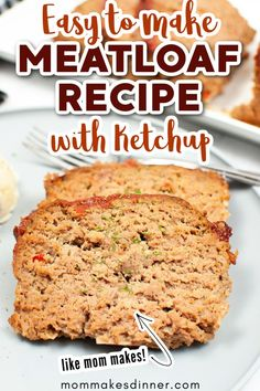Looking for a meatloaf recipe like mom makes? I bet this meatloaf recipe with ketchup hits the spot! It's easy to make a perfect way to use ground beef. It's just like mom used to make. Let me show you how to make this meatloaf recipe with ketchup. Meatloaf Recipe No Ketchup, Meatloaf Recipes, Easy Meals, Easy Recipes, Ground Beef, Banana Bread, Desserts, Mom, Easy Keto Recipes