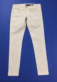 Vero moda W28 L32 tg 42 jeans emma skinny slim vita bassa beige usato sexy T508