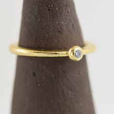 gold ring ,Gentle ring, statement ring, Very flattering, gemstone,zircon, Gift ring,  Special ring, Designed ring ,RG36