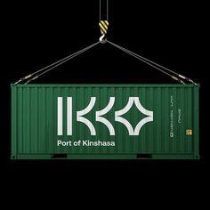 Vieira / Port of Kinshasa / Container / 2019 Identity Design, Visual Identity, Logo Design, Brand Identity, Ideal Logo, Unique Logo, Creative Logo, Creative Design, Marketing Digital