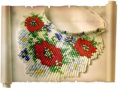 This Pin was discovered by Dil Beading Tutorials, Beading Patterns, Hobbies And Crafts, Diy And Crafts, Loom Beading, Beaded Flowers, Beaded Embroidery, Handmade Jewelry, Beaded Necklace