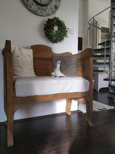 Entryway Bench, Lounge, Couch, Furniture, Home Decor, Chair, Airport Lounge, Homemade Home Decor, Hall Bench