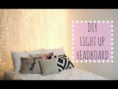 Transform Your Bedroom With This DIY Light-Up Headboard