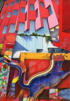 "Saatchi+Online+Artist+daniel+levy;+Drawing,+""Gato+Legorreta""+#art"
