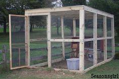 Chicken Coop Plans Free, Cheap Chicken Coops, Chicken Barn, Chicken Coop Run, Portable Chicken Coop, Chicken Coop Designs, Backyard Chicken Coops, Building A Chicken Coop, Chicken Runs