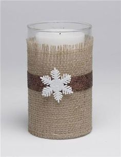 Eco-chic Trend Burlap Wrapped Candle