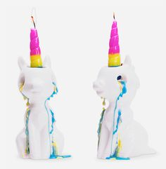 Trending Unicorn Accessories, Bedding Sets, Clothing and other products Rainbow Unicorn, Unicorn Party, Bullet Journal Markers, Light Em Up, Otaku Room, Bff Drawings, Unique Candles, Kawaii, Birthday Party Themes