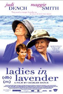 Ladies in Lavender Directed by Charles Dance. With Judi Dench, Maggie Smith, Daniel Brühl, Freddie Jones. Two sisters befriend a mysterious foreigner who washes up on the beach of their Cornish seaside village. Maggie Smith, Natascha Mcelhone, Judi Dench, Love Movie, Movie Tv, Cinema Movies, Ladies In Lavender, Daniel Brühl, Poster