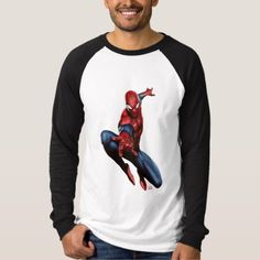 Spider-Man On Skyscraper T-Shirt - click/tap to personalize and buy Spiderman Spider, Spiderman Marvel, Graphic Sweatshirt, T Shirt, Colorful Shirts, Skyscraper, Fitness Models, Superhero, Sweatshirts